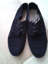 Topshop black suede brogues size 7 good condition