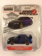 Jada JDM Tuners '02 2002 Mitsubishi Lancer Evolution 7 Blue Die-cast Metal 1/64