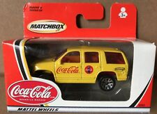 Coca-Cola Matchbox Mattel Wheels Yellow Chevrolet Tahoe  DieCast MODEL 2002