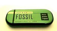 FOSSIL CASE FODERO AUTHENTIC OCCHIALI GREEN BLACK ASTUCCIO CUSTODIA BOX BAG