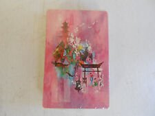 Vintage Full Deck Playing Cards Stardust Japanese Scene Painting Pagoda sealed