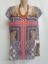 MILLY & MAUDE ETHNIC COLOURFULL TOP SIZE L SMART CASUAL WEAR