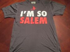NEW I'M SO SALEM GRAY TECH FIT T-SHIRT SIZE M MA. HALLOWEEN WITCH CITY