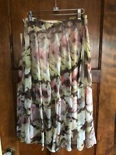 Coldwater Creek S  NWT 100% Silk Lined Floral Skirt