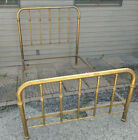 Antique Brass Bed Full Size frame w  rails 4 pc   LOCAL PICKUP