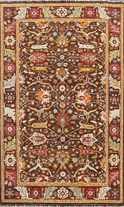 Vegetable Dye Ziegler Geometric Oriental Area Rug Dining Room Hand-knotted 6x10