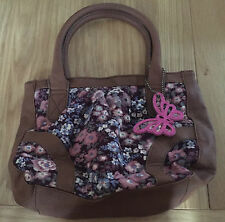 Girls Angels Accessorize Brown Fabric Floral Pattern Bag