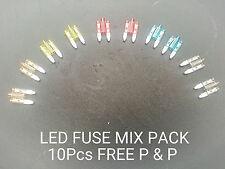 LED MINI BLADE FUSE 20A, 15A, 10A, 7.5A, 5A. GLOWS WHEN IT BLOWS OFF