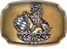 Cintura FIBBIA BUCKLE 4 fibbia colorata con Leone e Stemma Baviera