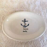 "Rae Dunn Anchor 8"" Oval Plate Dish Artisan Collection by Magenta"