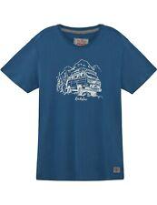 Herren T-Shirt VW Bulli Kult-Auto T1 Edition Kultfahrzeug »ROCKSTAR« Blau Weiß