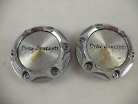 Drag Concepts Chrome Wheel Center Cap  # HY-CAP-010 (2 CAPS)