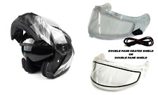 New Modular Snowmobile Helmet Heated Or Double Shield Dual Black White Adult Dot