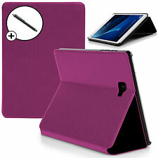 Purple Clam Shell Smart Case Cover Samsung Galaxy Tab A 10.1 SM-T580 + Stylus