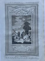 1770 Paul Shakes Off The Viper From His Hand Biblical Antique Copperplate Print