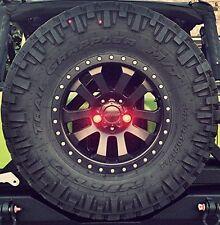 LED Lug Nut Light Kit For Jeep Wrangler Spare Tire JK TJ YJ