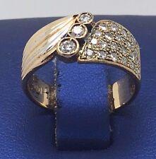 18K 750 YELLOW GOLD BEAUTIFUL DIAMONDS BAND RING