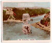 The Niagra Whirlpool  International Border Canada US 1930s Trade Ad  Card