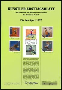 BRD KÜNSTLER-ETB 1997/05 SPORT STREETBALL BASKETBALL ENTWÜRFE!!