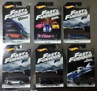 6 Automobili Fast & Furious Auto 1/64 6 CM Hot Wheels Nissan Lamborghini Ford