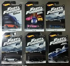 6 Auto Fast & Furious 1/64 6 CM Hot Wheels Nissan Lamborghini Ford and Chevelle