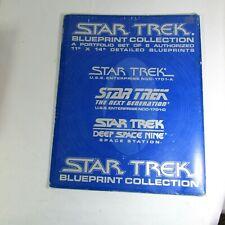Star Trek Blueprint Collection Portfolio Of 8 Authorized 11x14 Blueprints 1994