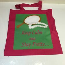 """AkA Pink Canvas Tote Bag 15""""X16"""" Two Sided"""