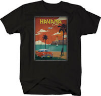 Havana Cuba Classic Muscle Car Belair Hotrod Car Postcard Graphic Hoodie for Men