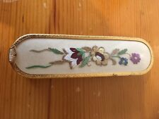 Vintage Hair Brush Original Embroidery Good Condition