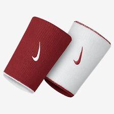 Nike Mens Unisex Tennis Reversible Wristbands Red/White RF Federer Nadal NWT