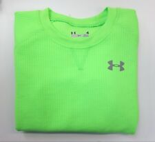 Under Armour Boys Neon Green Thermal Crew Neck L/S Shirt Size 4 NEW