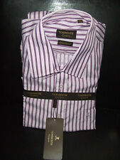 TORRENTE CHEMISE MANCHES LONGUES 100% COTON 41-42 RAYE ROSE VIOLET COUPE CLASSIQ