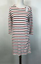 NWT Sincerely Jules Size XS Long Sleeve Stripe Red White Blue Cotton Dress