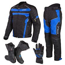 Motorcycle Motorbike Waterproof Winter Leather Jacket Trouser Boots Gloves Suit