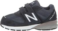 New Balance Kid's Made in US 990 V5 Hook and Loop Sneaker, Navy, Size 9.0 TQyn
