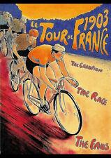 1903 TOUR DE FRANCE BICYCLE RACE VINTAGE TRAVEL AD REPRO ART PRINT POSTER