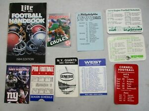 10 1970's Football Schedules
