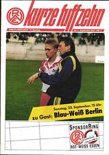 II. BL 90/91 Rot-Weiß Essen - Blau-Weiss 90 Berlin, 23.09.1990