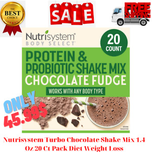 Nutrisystem Turbo Chocolate Shake Mix 1.4 Oz 20 Ct Pack Diet Weight Loss