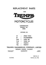 1956 Triumph pre-unit models parts catalogue