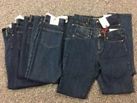 NWT Lands' End Women's High Rise Straight Jean Medium Wash Size 4P MSRP $59
