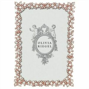 """OLIVIA RIEGEL PRINCESS ROSE GOLD 4X6"""" PHOTO FRAME RT3760.NEW IN BOX."""