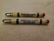 Vintage PAIR ~ PRAIRIE VALLEY HYBRIDS ~ PHILLIPS NEBRASKA ~ BULLET PENCIL