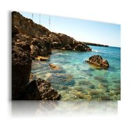 PANORAMA SEA BEACH LAGOON Perfect View Canvas Wall Art Picture  AB51 X