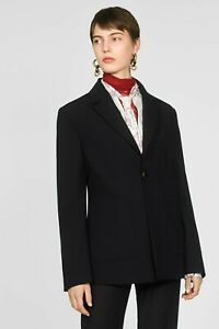 ZARA NEW FW19 CAMPAIGN REVERSIBLE COMBINED BLAZER BLACK SIZES XS S M L 8328/029