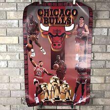 Vintage Chicago Bulls 1993 Three-Peat Poster Jordan Pippen Grant NBA Nike Ad Vtg