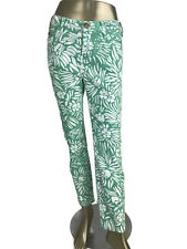 DVF For Current Elliott Jeans Mint Green White Printed Skinny Pants Size 29