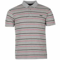 Mens Lee Cooper Short Sleeves Striped Polo Shirt Top Size  M L XL XXL RRP £19.99