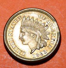 1863 Indian Head Cent, Stunning BU mint error. RARE variety 4 dmnd! great coin!!