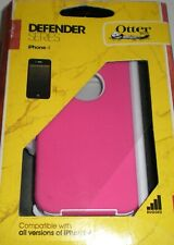 Otterbox Defender case + holster belt clip for iPhone 4/4s, Pink & White, NEW